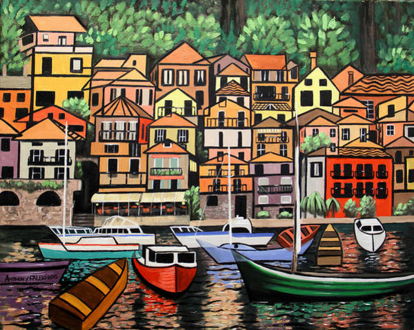 Lake Como Painting - Lake Como Italy by Anthony Falbo