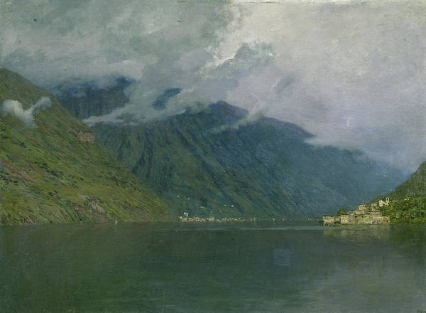 Wall Art - Painting - Lake Como, Italy by Isaac Levitan
