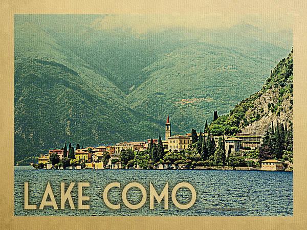 Wall Art - Digital Art - Lake Como Travel Poster by Flo Karp