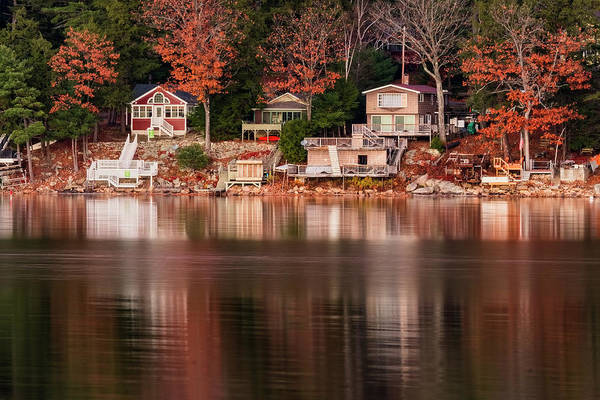 Photograph - Lake Cottages Reflections by Tom Singleton