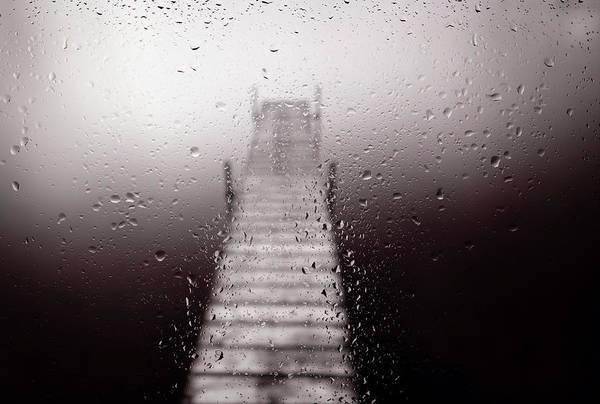 Wall Art - Photograph - Lake Dock On A Rainy Day by Steve Gadomski