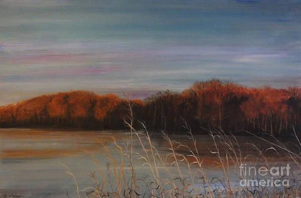 Painting - Quiet Lake Morning At Lake Dunn Village Creek State Park Ar by Lizi Beard-Ward