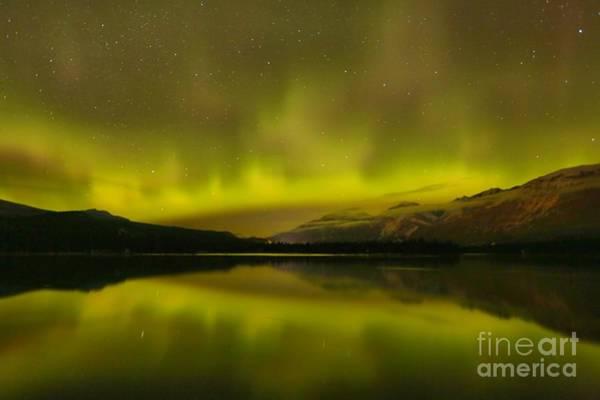 Photograph - Lake Edith Light Show by Adam Jewell