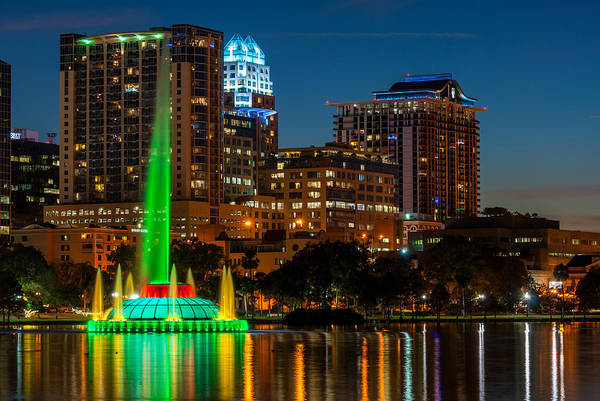Lake Eola Fountain Art Print