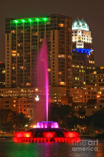 Photograph - Lake Eola Park Fountain by Adam Jewell