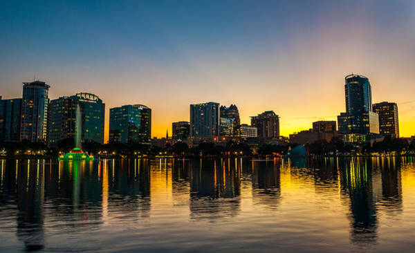 Lake Eola Sunset Art Print