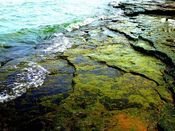 Lake Erie Flat Rocks  Art Print