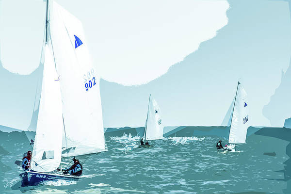 Photograph - Lake Erie Racing by Michael Arend