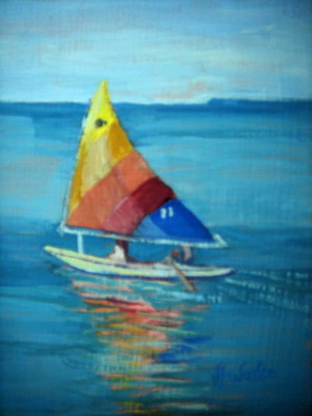 Painting - Lake Erie Sail 2 by Judy Fischer Walton
