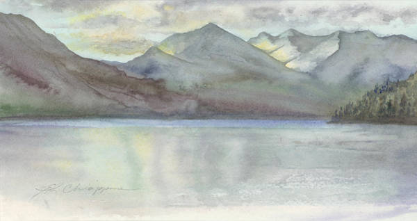 Adirondack Mountains Painting - Study For Silver Bay, Lake George by Esther Carlson