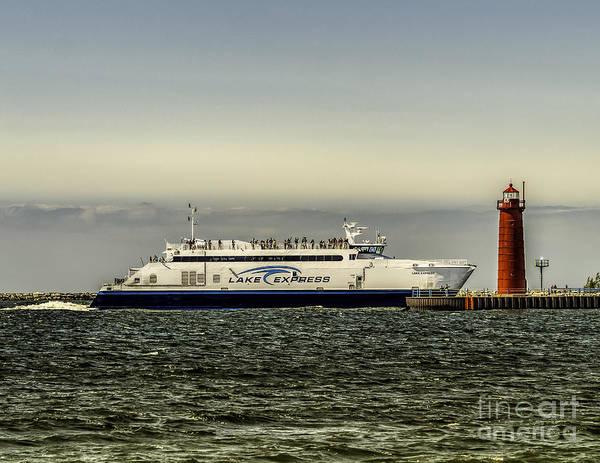 Photograph - Lake Express Ferry - Muskegon by Nick Zelinsky