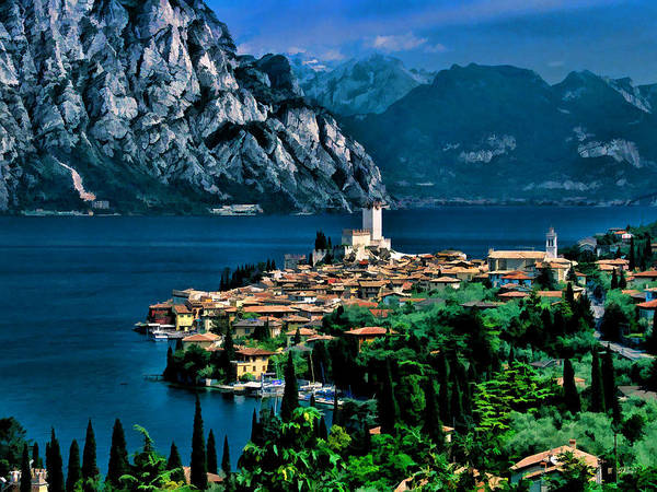 Painting - Lake Garda by Dean Wittle