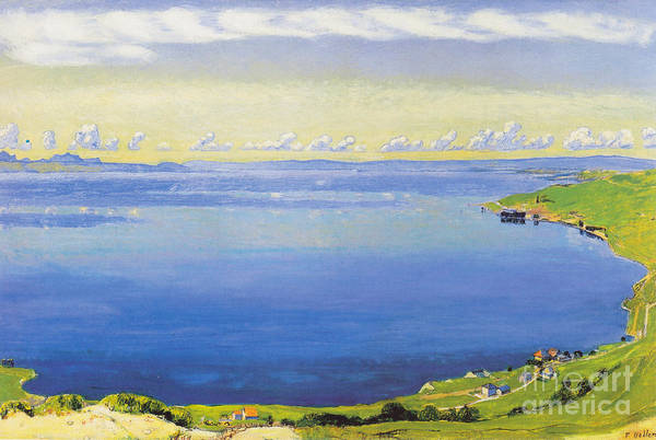 1918 Painting - Lake Geneva In Chexbres by MotionAge Designs