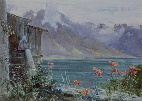 Lake Geneva Wall Art - Painting - Lake Geneva by John William Inchbold