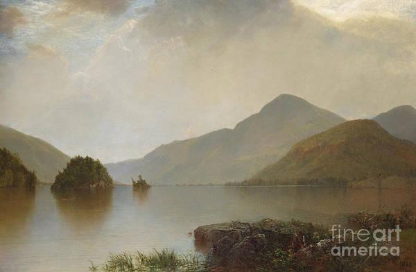 Wall Art - Painting - Lake George, 1869 by John Frederick Kensett