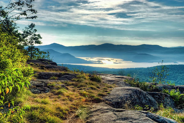 Bolton Landing Wall Art - Photograph - Lake George From Cat Mountain 1 by Tony Beaver