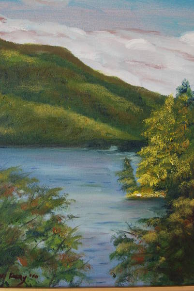 Adirondack Mountains Painting - Lake George Lookout by Mark  W  Perry