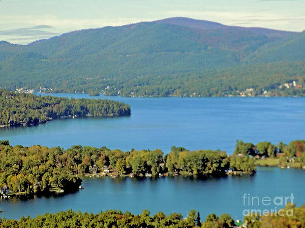 Adirondack Mountains Digital Art - Lake George Pennisulas And Mountains by Tanya Hamell