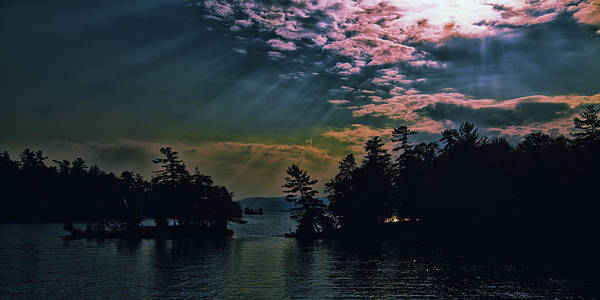 Photograph - Lake George Sun Rays by David Patterson