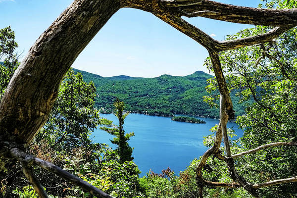 Bolton Landing Wall Art - Photograph - Lake George Through The Branches by Tony Beaver