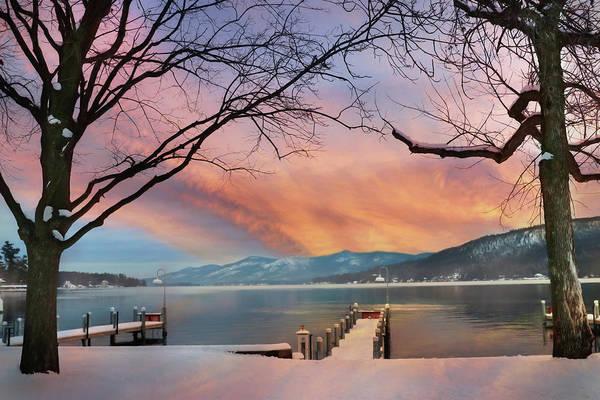 Lake George Photograph - Lake George Winter Sunrise by Lori Deiter