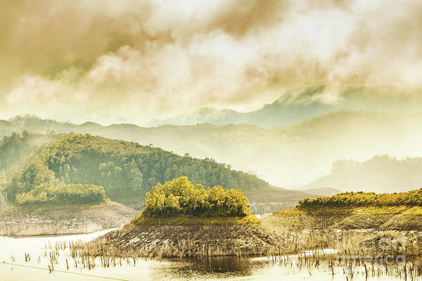 Dam Wall Art - Photograph - Lake Gordon Landscape by Jorgo Photography - Wall Art Gallery