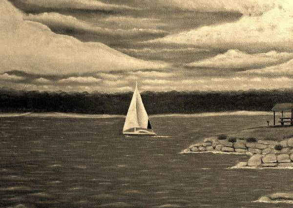 Bbq Painting - Lake Grapevine by Jimmy Carender