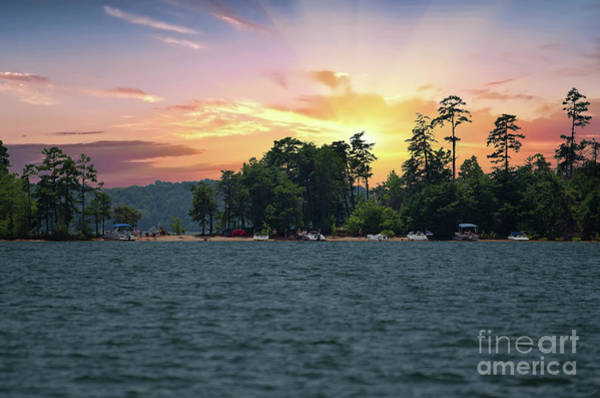 Photograph - Lake Hartwell Sunrise In Anderson Sc by Dale Powell