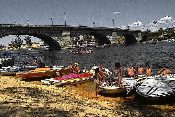 Painting - Lake Havasu Arizona - London Bridge by Peter Potter