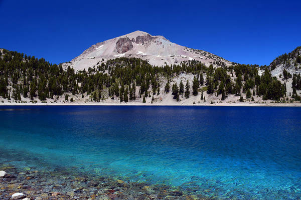 Photograph - Lake Helen Mount Lassen by Frank Wilson