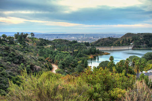 Photograph - Lake Hollywood From Hollywood Hills - Los Angeles California by Gregory Ballos