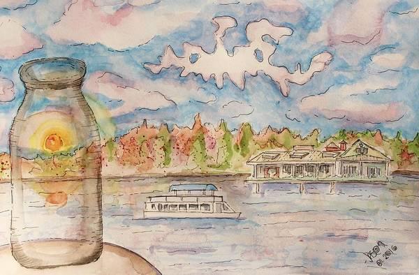Painting - Lake Hopatcong by Jason Nicholas
