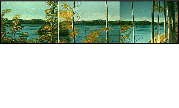 Painting - Lake Hope Triptych by Frank Hunter