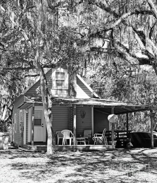 Photograph - Lake House Black And White by D Hackett