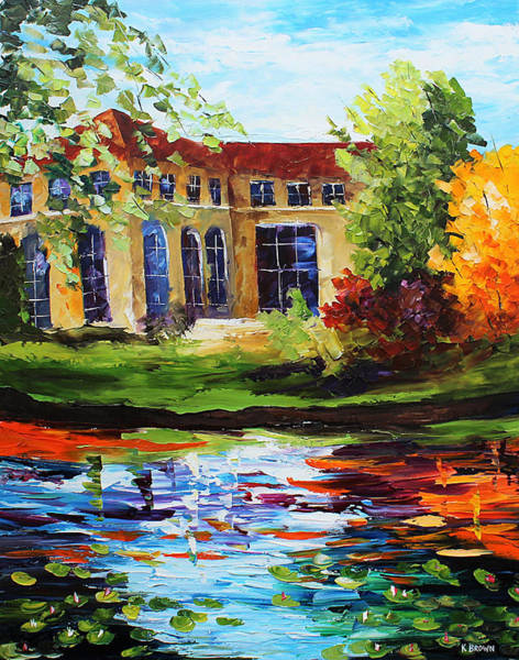 Painting - Lake House by Kevin Brown