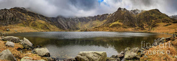 Wall Art - Photograph - Lake Idwal Winter Panorama by Adrian Evans
