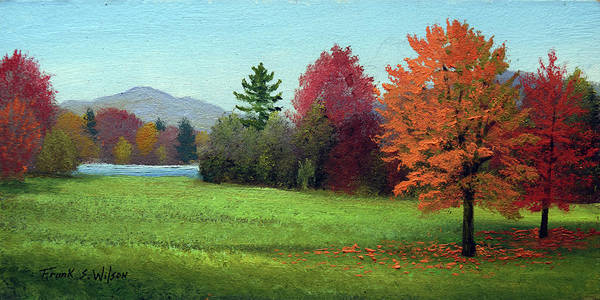 Painting - Lake In Autumn by Frank Wilson
