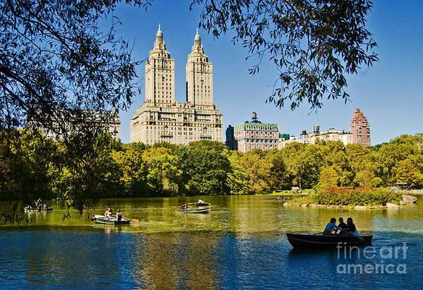 Central Photograph - Lake In Central Park by Allan Einhorn