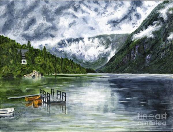 Magnificence Painting - Lake In The Julian Alps Slovenia Painting by Timothy Hacker