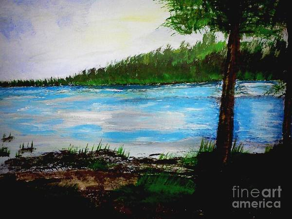 Lake In Virginia The Painting Art Print