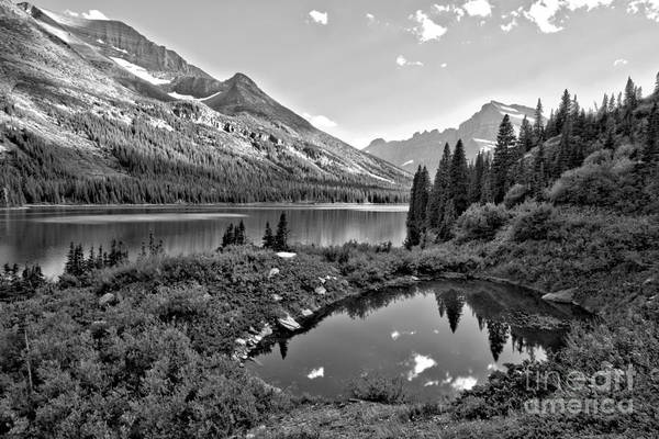 Photograph - Lake Josephine Summer Sunset Black And White by Adam Jewell
