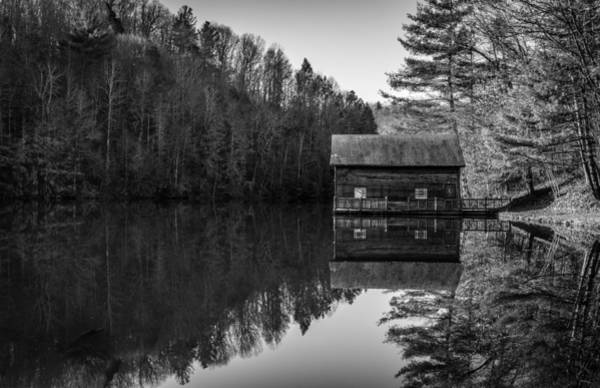 Photograph - Lake Julia Boathouse In Dupont Forest by Donnie Whitaker