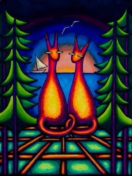 Lake Kats Art Print