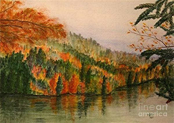11x14 Painting - Lake Konigsee by Bonnie Schallermeir