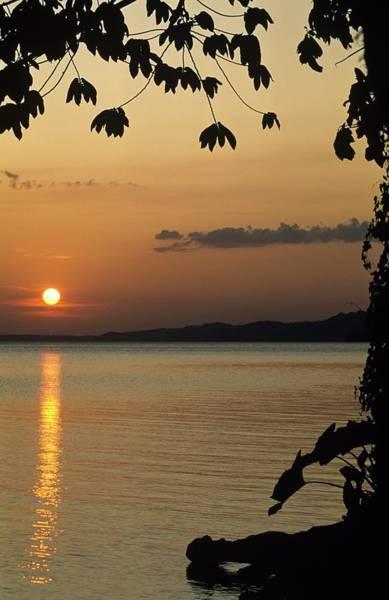 Lake Lago And Sunset Art Print
