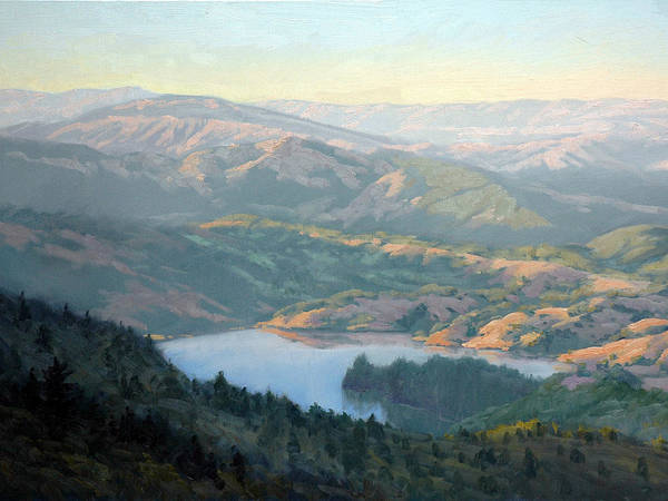 Northern California Wall Art - Painting - Lake Lagunitas by Armand Cabrera
