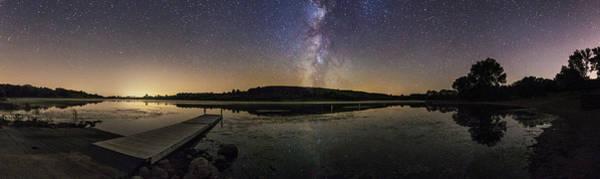 Photograph - Lake Lakota Night Pano by Aaron J Groen