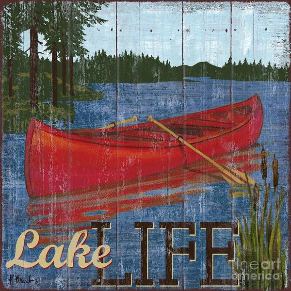 Lakeside Wall Art - Painting - Lake Living II by Paul Brent