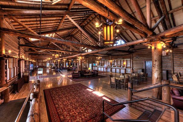 Montana Photograph - Lake Lodge Interior Yellowstone by Steve Gadomski