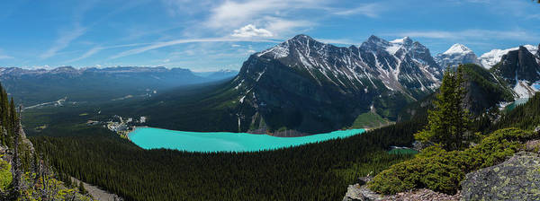 Photograph - Lake Louise From Little Beehive Overlook by Owen Weber